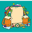 beer party banner vector image vector image