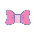bow ribbon and fashion design icon vector image