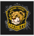 bulldog head mascot - security emblem vector image