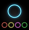 colorful neon ring vector image