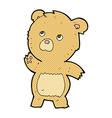 comic cartoon curious teddy bear vector image vector image