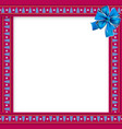 cute christmas frame with christmas trees pattern vector image