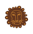 cute lion head hand drawn design element can vector image