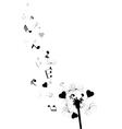 dandelion notes hearts vector image vector image