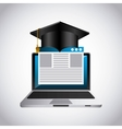distance education elearning icon vector image vector image