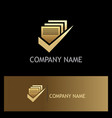 document approve gold logo vector image