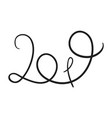 doodle lettering with 2019 number of new year vector image