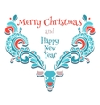 elk of christmas card vector image vector image
