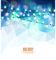 festive blue background with luminous garlands vector image vector image