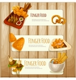 Finger food banners vector image vector image