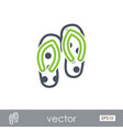 flip flops outline icon summer vacation vector image vector image