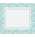Frame on a ornamental background vector image
