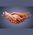 friendship or business partnership vector image vector image