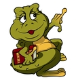 Frog With Book vector image vector image