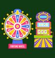 gambling machine roulette symbol casino vector image vector image