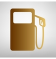 Gas pump sign Flat style icon vector image vector image