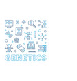 genetics square design element in thin line vector image vector image