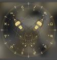 Golden amphora zodiac Aquarius sign vector image vector image