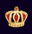 golden crown vector image vector image