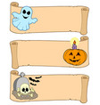 halloween banners collection 1 vector image