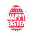 happy easter emblem egg symbol religion holiday vector image vector image