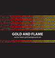 heart pattern set gold and flame seamless vector image vector image