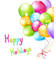 holiday background with multi-colored balloons iso vector image