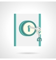 Home entrance abstract flat icon vector image