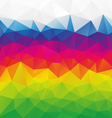 horizontal rainbow full color spectrum polygon vector image vector image