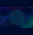 infinite space background abstract futuristic vector image vector image