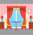 interior of room table with chairs indoor vector image vector image