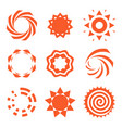 isolated abstract round shape orange color logo vector image vector image