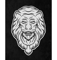 Lion head door On a dark background vector image vector image