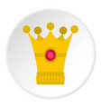 Medieval crown icon circle