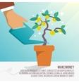 Money tree water vector image vector image