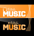 music banner or flyer design vector image vector image