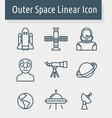 outer space icon vector image vector image