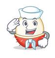 sailor rambutan character cartoon style vector image vector image