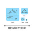 sea haze turquoise linear icons set vector image