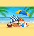 seascape sea beach beach bag vector image vector image