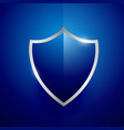 security label badge design in blue color vector image
