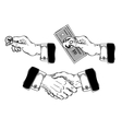 set icons mens hands making various gestures vector image