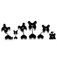 set of animals dog terrier vector image vector image