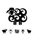 Sheep or ram icon or logo vector image
