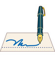 signature pen icon vector image vector image