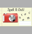 spell it out camera vector image vector image