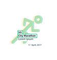 Sports activity identity runner logo vector image vector image