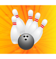 ten pin bowling vector image