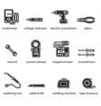 the electricians tools flat icon set vector image vector image