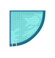 top view of angular swimming pool with blue clear vector image